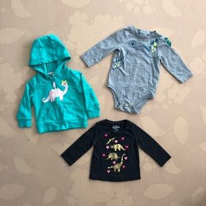 Baby girl dinosaur bundle 6-9 months